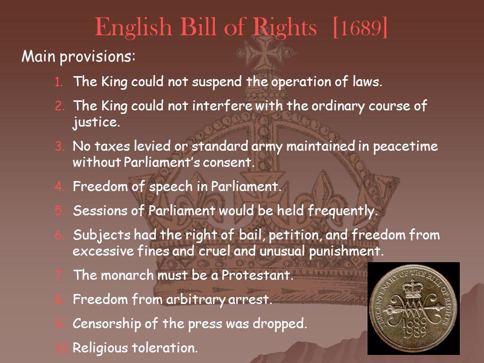 English Bill of Rights [1689]